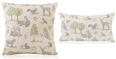 Woodland Forest Natural Cushions Various Sizes